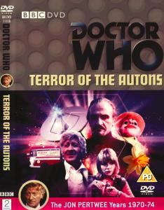 Region 2 DVD cover for Terror of the Autons