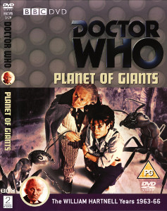 Region 2 DVD cover for Planet of Giants