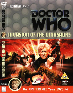 Region 2 DVD cover for Invasion of the Dinosaurs