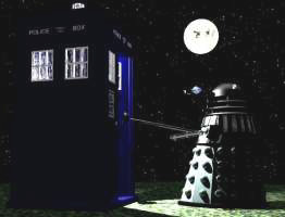 A Dalek and a TARDIS