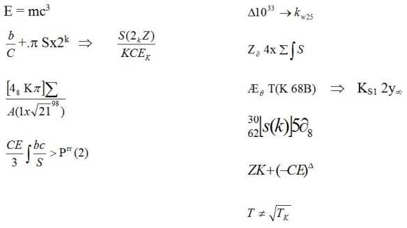 The equations for time travel power.
