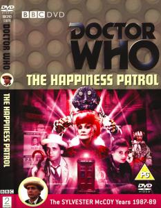 Region 2 DVD cover for The Happiness Patrol