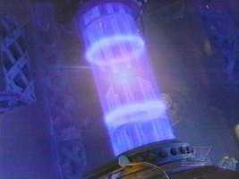 The TARDIS in flight